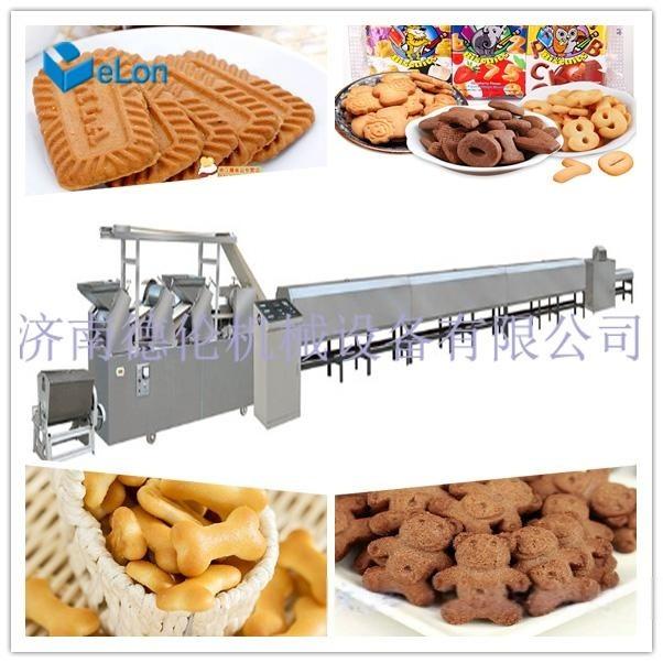 韧性酥性饼干成型机 巧克力夹心饼干生产线