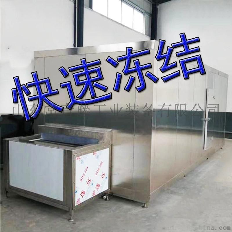 水饺馄饨隧道式速冻机 生鲜冷藏单体速冻机