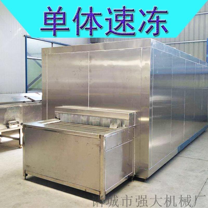 【结晶速度快】玉米速冻机 海鲜生蚝隧道式单冻机