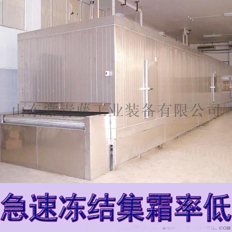 全自动网带传送速冻机 舟山海鲜隧道式速冻机