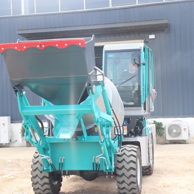 建筑工地  混凝土搅拌车 自动上料搅拌车