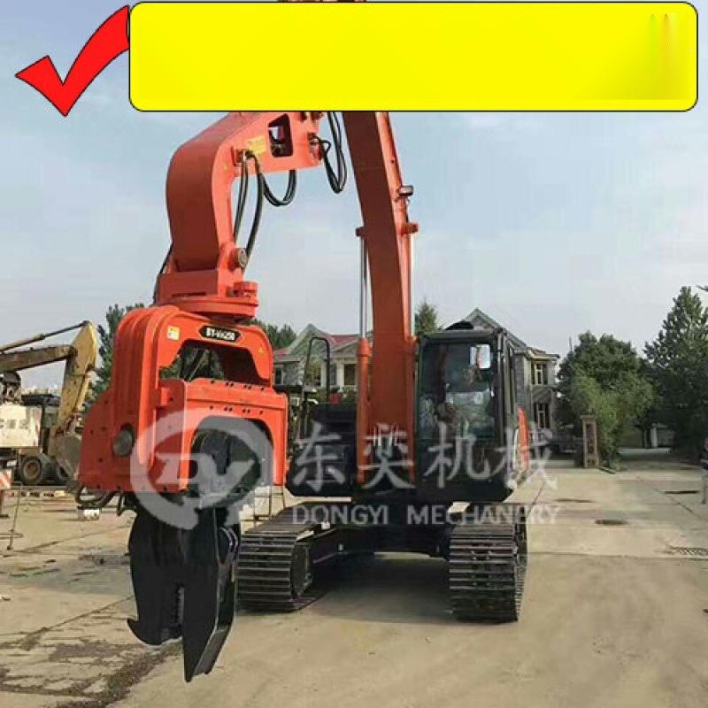 挖掘机打桩锤 打拔桩机 大宇挖掘机打拔钢板桩