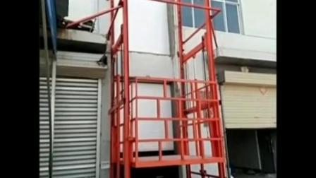 固定式导轨升降机 电动升降货梯 大型载货升降台