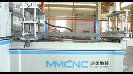 明美,铝型材高效数控送料切割锯,铝型材数控角码锯