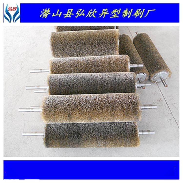 弘欣刷业定做各种规格抛光钢丝刷棍/研磨丝辊刷