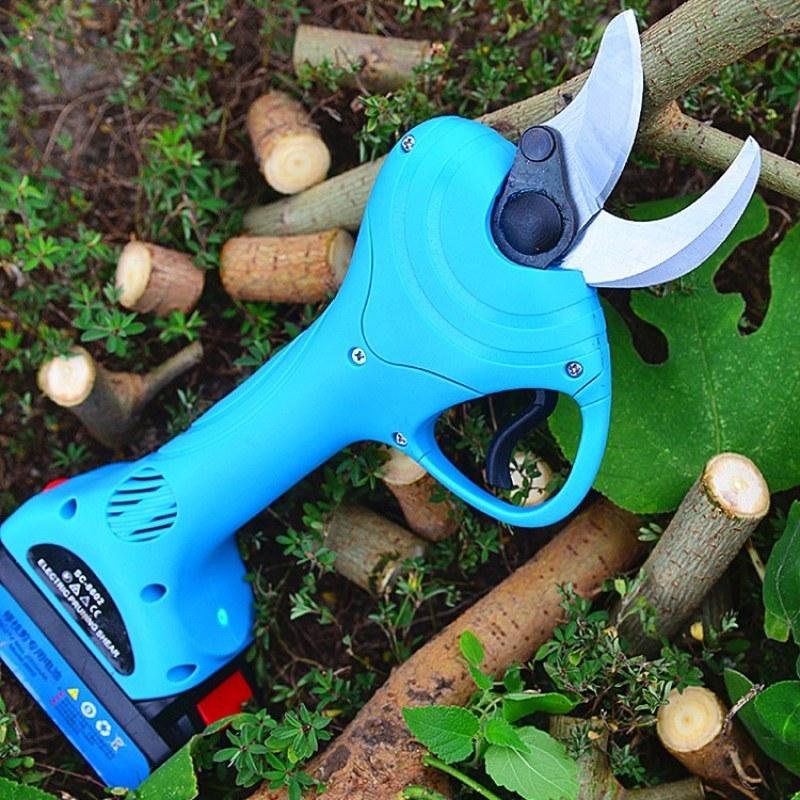 高效率 电果树剪电动手持式粗枝剪园林电动修枝剪刀