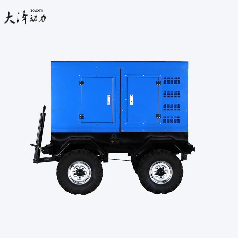 噪音小大泽动力600A柴油发电电焊机 TO600A-J 出口用拖车式工业焊