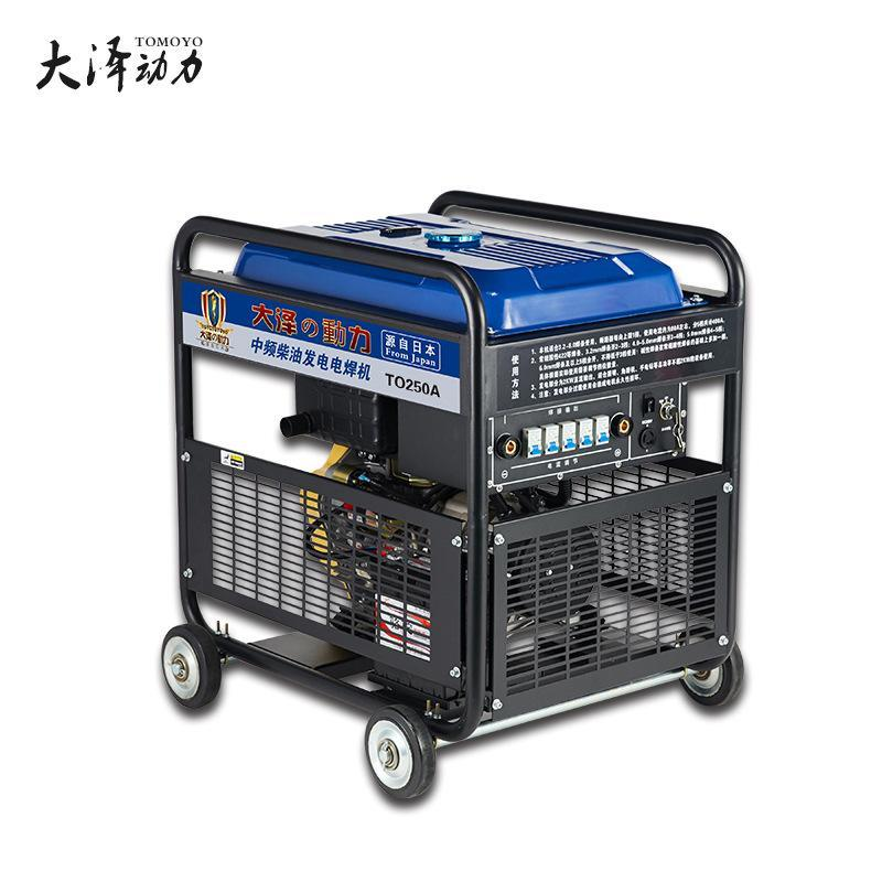 高原海拔大泽动力250A柴油发电电焊机 TO250A 户外施工移动一体机