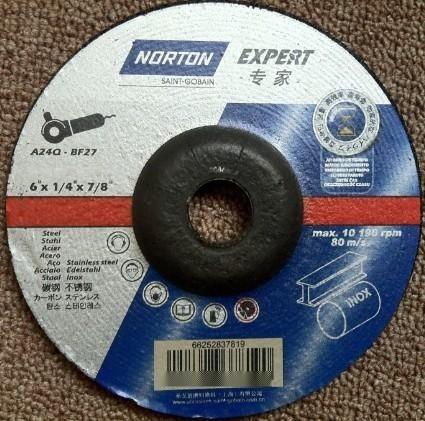 进口诺顿NORTON树脂角磨片