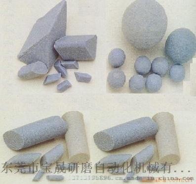 供应棕刚玉研磨石去毛刺石 蓝白点研磨石