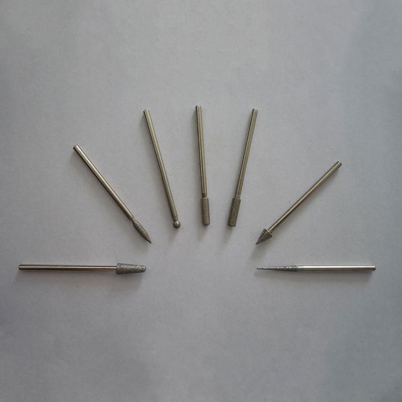 金刚石磨头 金刚石磨针 玻璃玉石雕刻金刚砂磨头