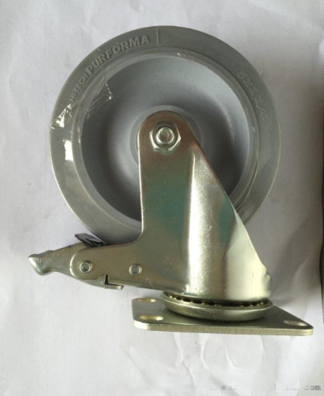 厂家直销5寸软胶TPR万向脚轮,静音脚轮
