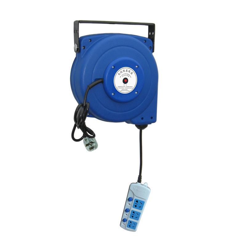 20米自动伸缩电线卷管器,国标防过载电缆盘