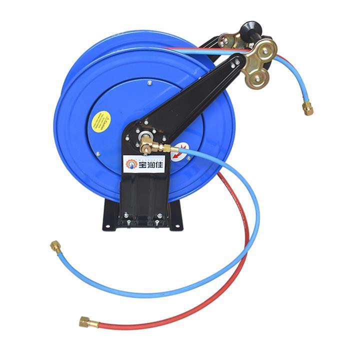 30米乙炔氧气气管卷管器 氧焊切割强力回弹伸缩卷盘