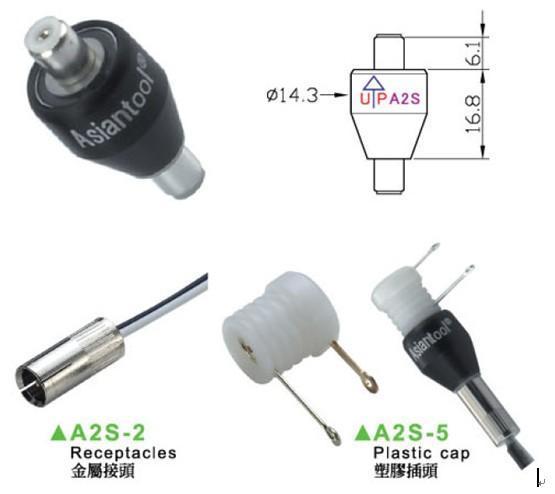 Asiantool 2极/2路4A  导电滑环 A2S 电阻切割机,纺织设备滑环