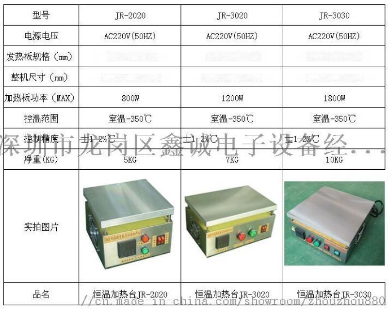 LED灯珠焊接  恒温加热台JR-3020