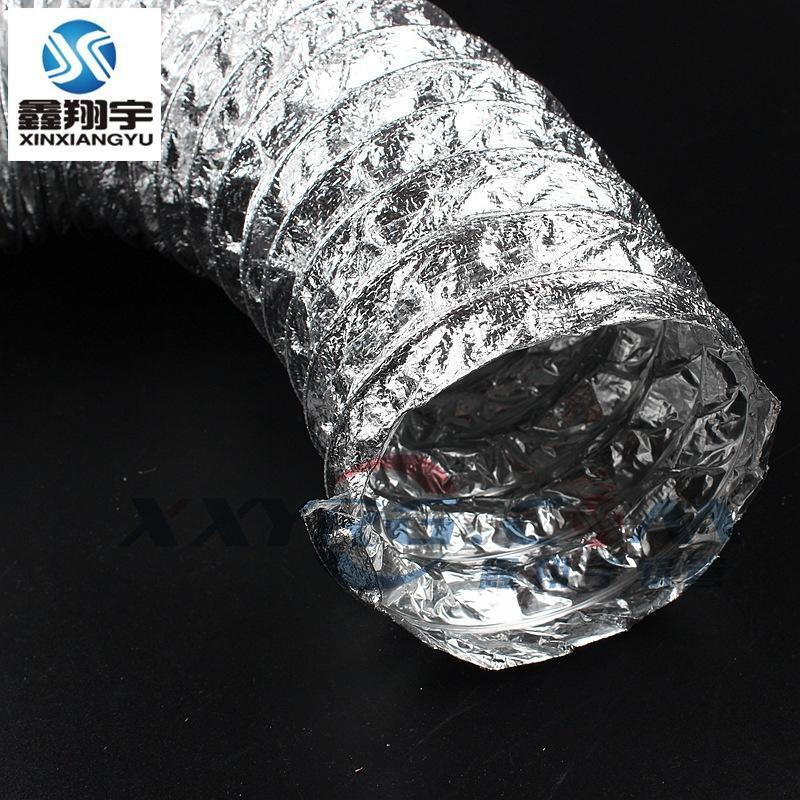 耐高温双层强化加厚铝箔玻纤复合通风软管/耐酸碱耐油高温风管8寸