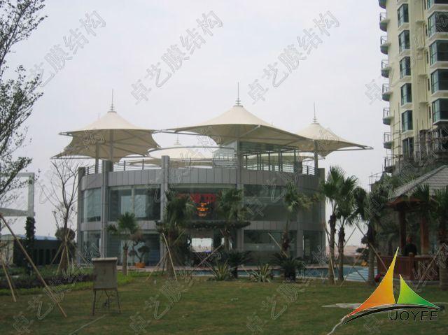 广场张拉膜结构设计施工