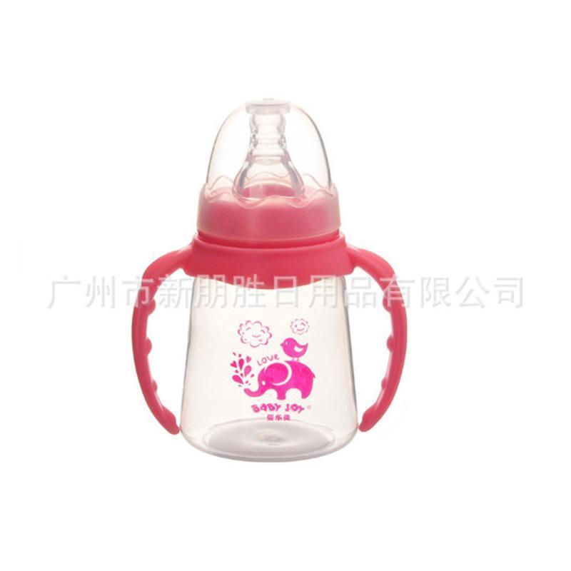 母婴用品 带手柄带吸管自动PP奶瓶150ml
