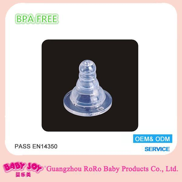 厂家供应标准口径 新朋胜全液态食品级硅胶奶嘴 母乳实感婴儿喂奶奶嘴 适配各式标口奶瓶