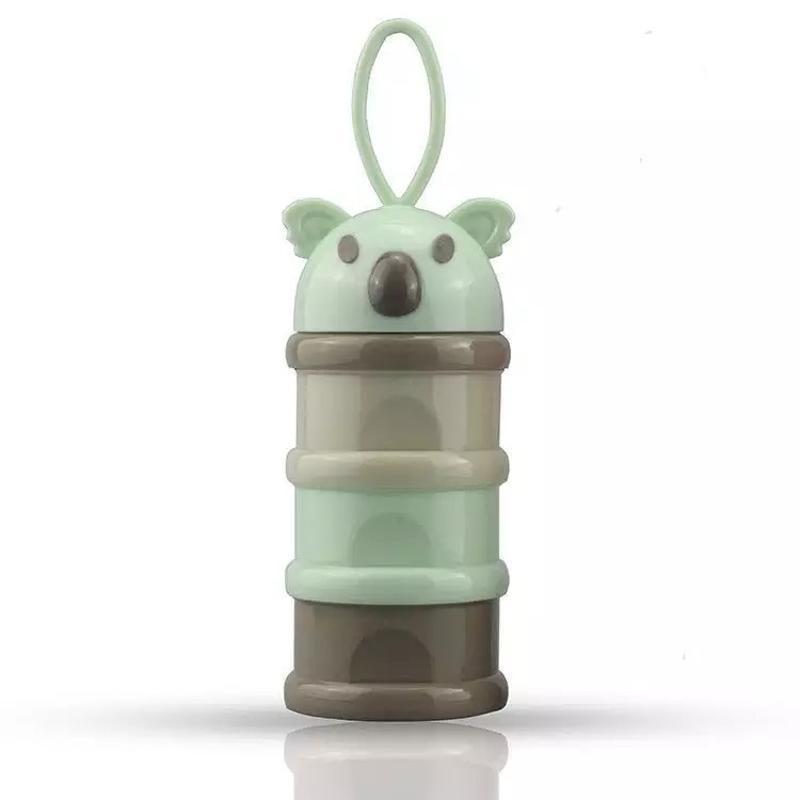 新款考拉婴儿奶粉盒 便携式零食分装盒 奶粉格