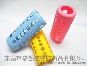硅胶婴幼儿用品厂家定制硅胶奶瓶套 防摔防烫奶瓶套