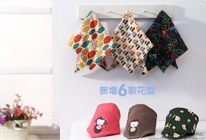 纯棉婴儿多功能口水巾三角巾造型