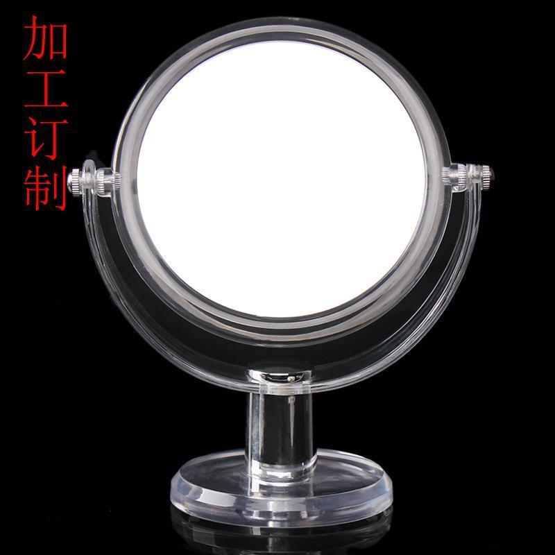 韩版女生梳妆镜订制-爱美化妆镜亚克力化妆台  双面镜子