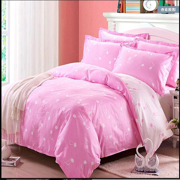 春夏秋冬全棉斜纹印花被套床单件枕套纯棉四件套被罩批发