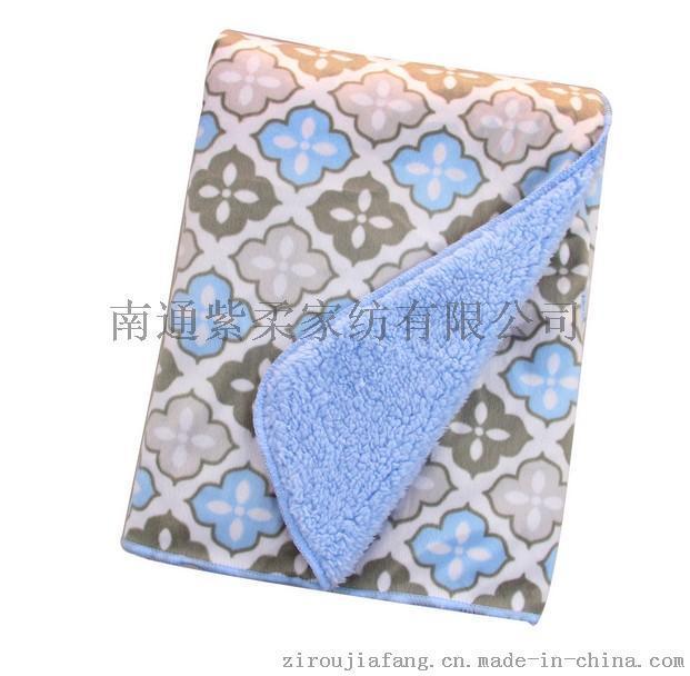 紫柔秋冬新款毛毯 卡通印花双面儿童毯 加厚柔软宝宝盖毯 短毛绒抱毯