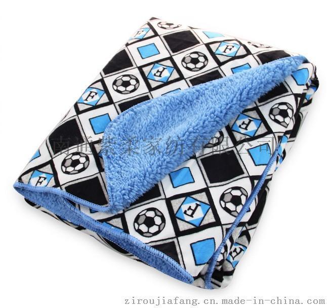 紫柔  短毛绒+羊羔绒春秋婴儿毛毯宝宝盖毯抱毯空调毯