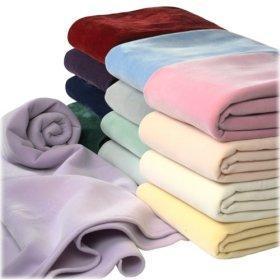 海绵植绒毯vellux blanket