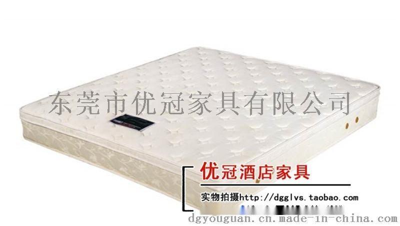 广州优冠公寓酒店家具床垫 针织面料 天然乳胶床垫