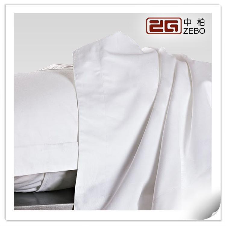 酒店宾馆旅馆纯棉床上用品 白色全棉三分段条