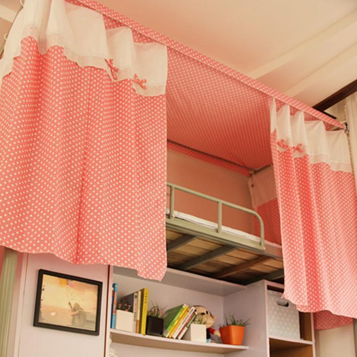 大学生宿舍  床帘、遮光布