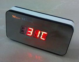 时钟闹钟声控温度计