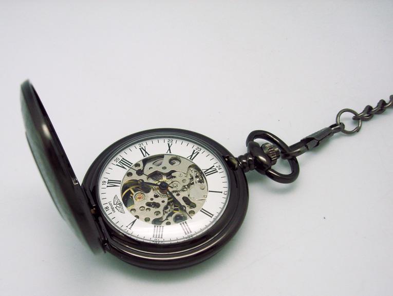 深圳手表厂家定制不锈钢机械挂表【稳达时钟表】