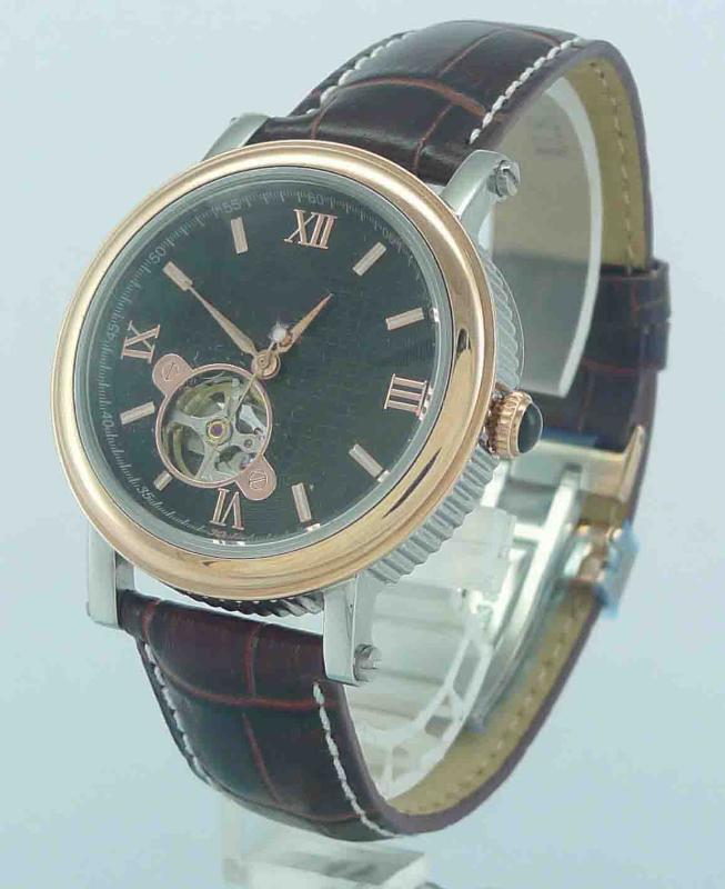 新款男士手表精钢皮带石英表男表  全自动机械表