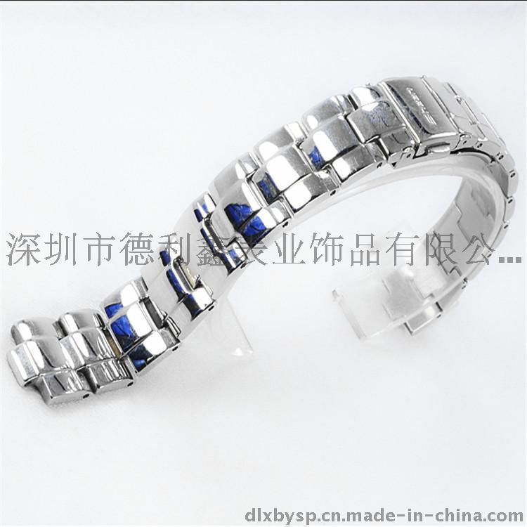 德利鑫 DLXZZ CASIO实芯女式14mm表带 金亮光滑优质不锈钢316L钢表带 休闲钟表配件制造厂