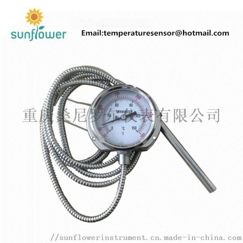 WTQ-280 不锈钢硅油耐震压力式温度计