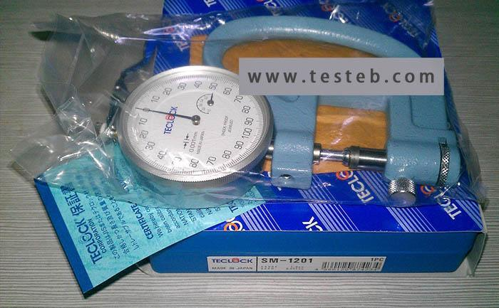 日本得乐厚度计SM-1201橡胶厚度计