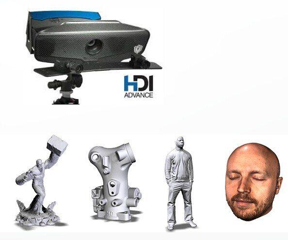 HDI ADVANCE R1x白光拍照三维扫描仪