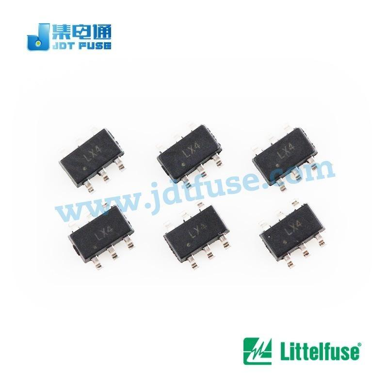 Littelfuse 瞬态抑制二极管阵列SRV05-4HTG低电容ESD保护6V/10A