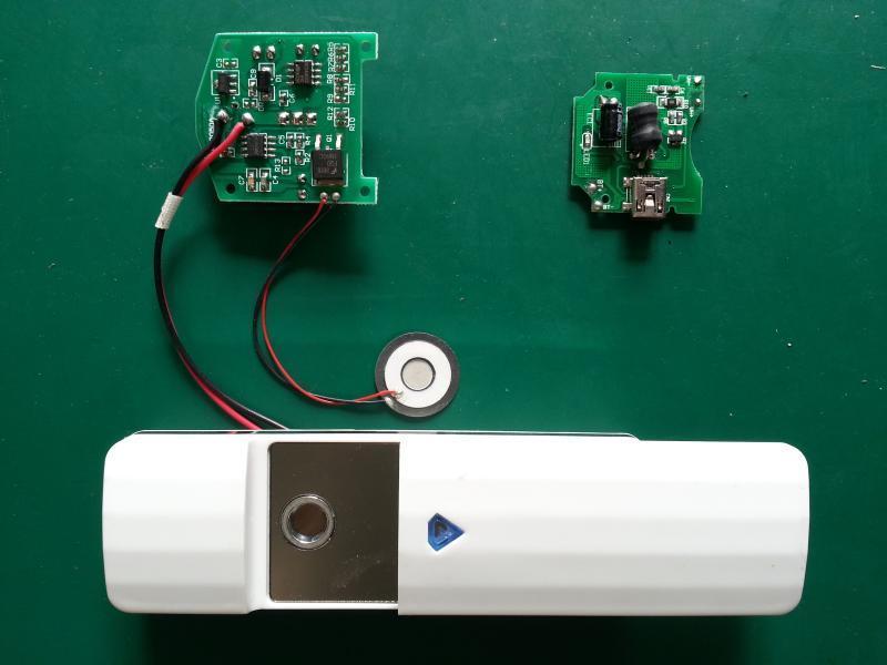 KINGCHIP美容仪喷雾器PCB电路板线路板驱动板方案雾化片整套配件