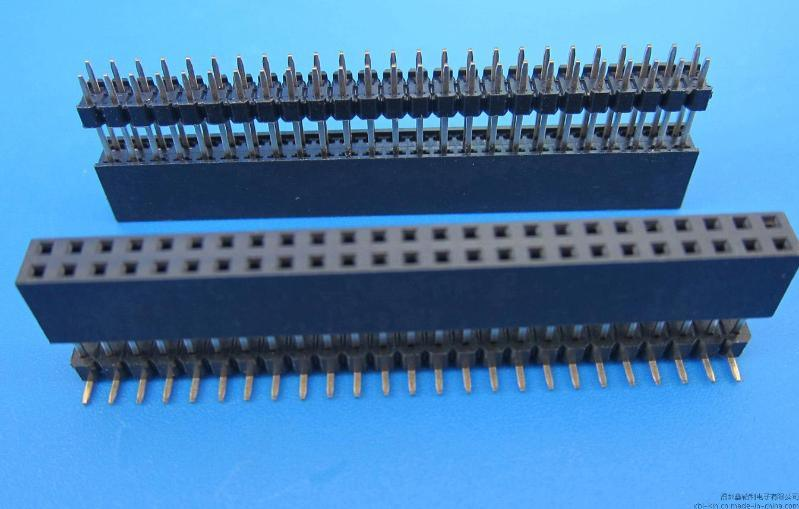 2.54XH8.5 Y型 排母 加塑 180度 直插& SMT 贴片