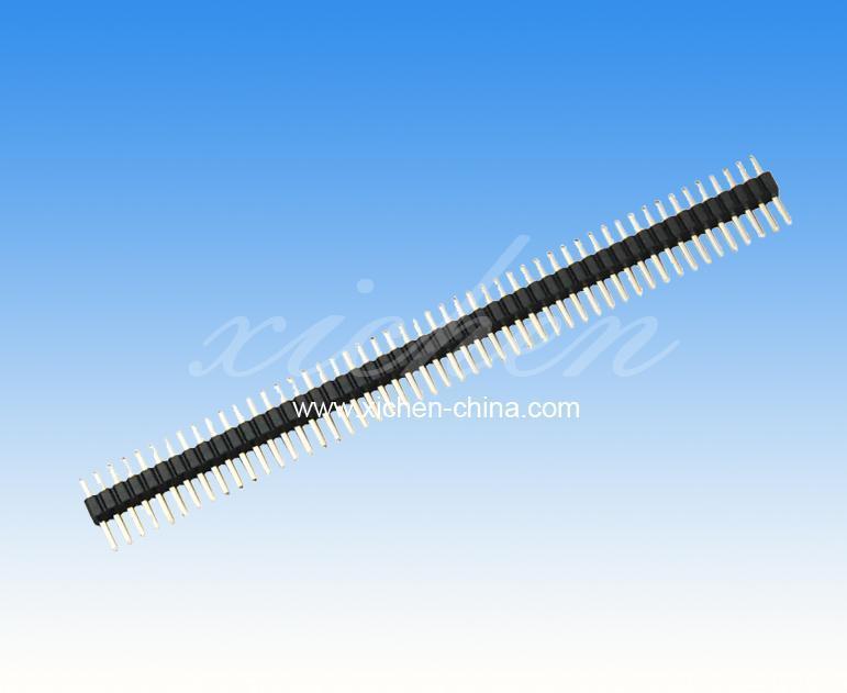 1.27mm间距移动电源排针排母 单排180度