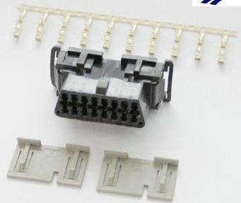OBDII 16P母座连接器