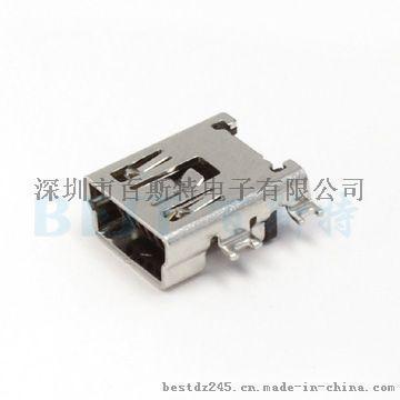 供应百斯特JML USB插座MIN USB-5P沉板长体