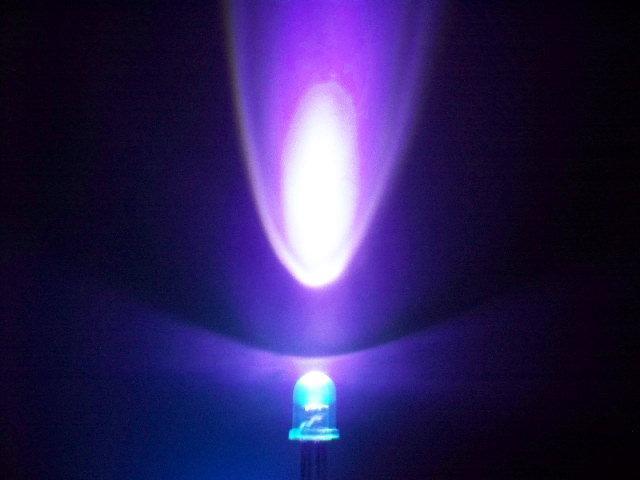 5mm圆头紫光LED,380nm紫光灯珠