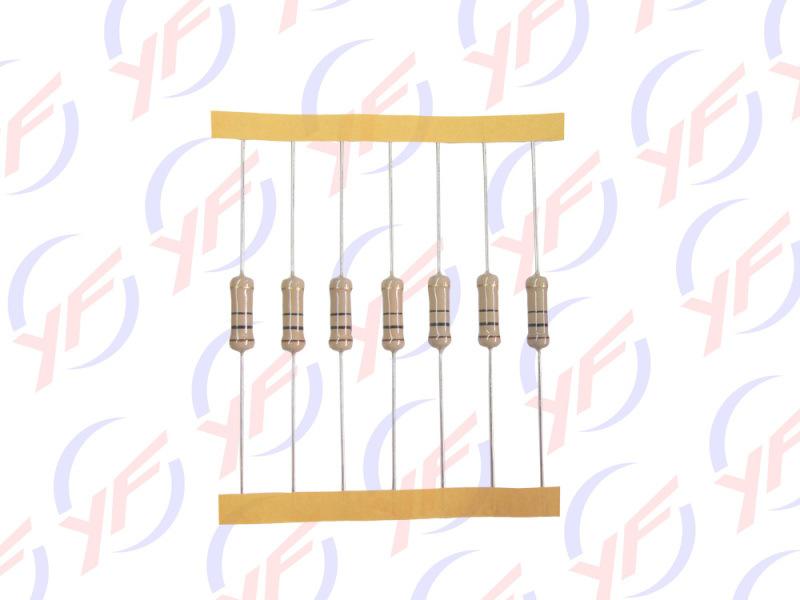 工业级1W插件色环碳膜电阻器